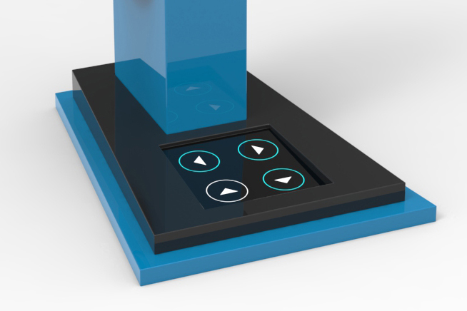LED Capacitive touch with UV